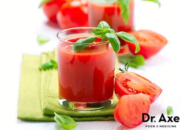 Tomato Basil Juice  http://www.draxe.com  #juicing #vegetables #recipe