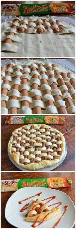 Crostata di würstel! Un'idea alternativa ai soliti salatini!!