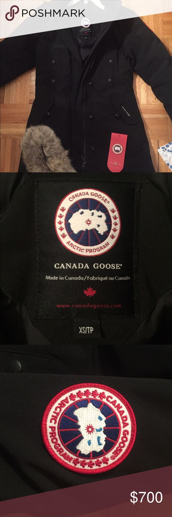 Canada Goose Kensington Parka Beautiful black Canada Goose Kensington parka that is unfortunately too small for me. I ripped the tags off (from excitement) but have never actually worn this jacket. In pristine condition! Canada Goose Jackets & Coats Puffers