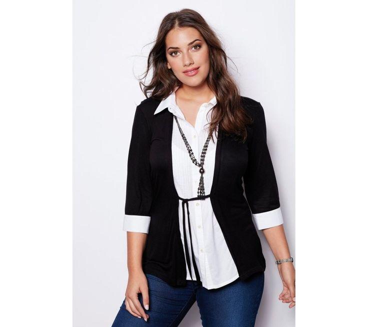 Tričko s efektom 2 v 1 a náhrdelníkom   modino.sk  #ModinoSK #modino_sk #modino_style #style #fashion #bellisima #shirt