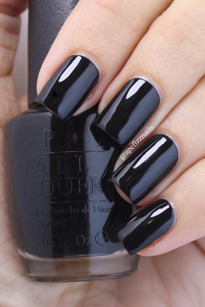 Peanuts by OPI 2014 ~ Who Are You Calling Bossy..one coat gorgeous black cream polish ♥