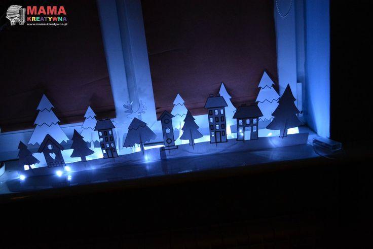 świąteczna dekoracja na parapet