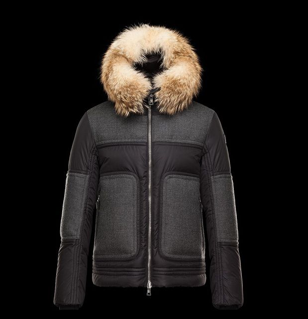 Boutique Homme Doudoune Moncler Dedion veste fourrure pour capuche gris paris