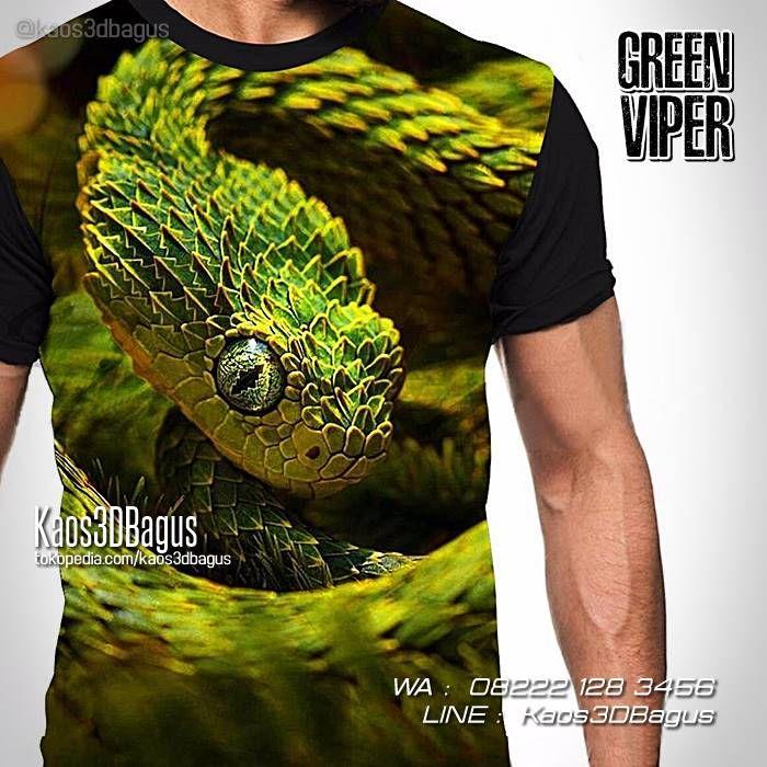 Kaos ULAR, Kaos REPTIL, Kaos SNAKE, Kaos Snake Lover, Kaos 3D Gambar Ular, Green Viper Snake, WA : 08222 128 3456, LINE : Kaos3DBagus, https://kaos3dbagus.wordpress.com/2016/11/24/kaos-ular-kaos-reptil-kaos3d-reptil-indonesia/
