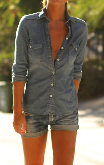#denim #shortvaquero #camisa vaquera