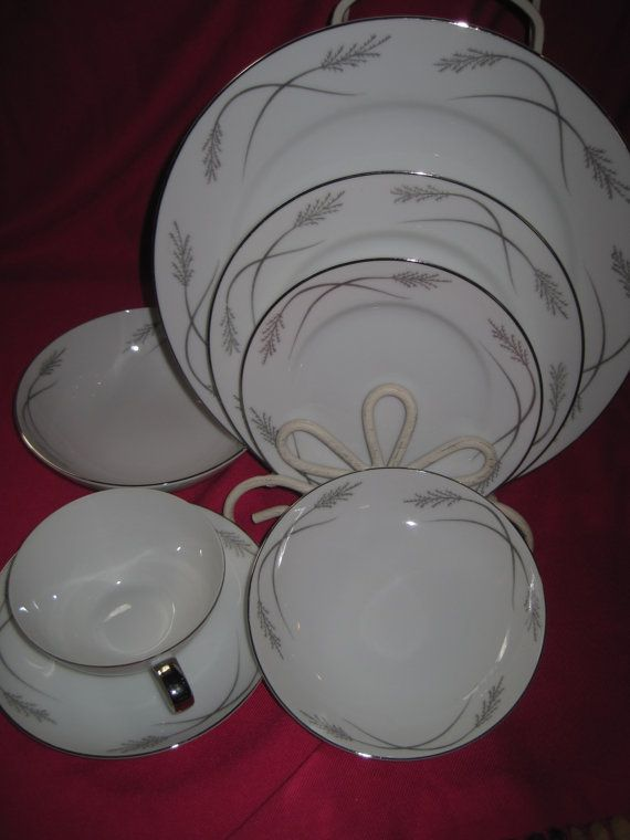 Mikasa Jyoto Grace 8063/X 7 Piece Fine China by GardenGirlVintage