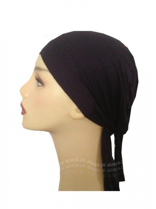 Black Tieback #Hijab Cap - Available in a range of different colours to suit your need.