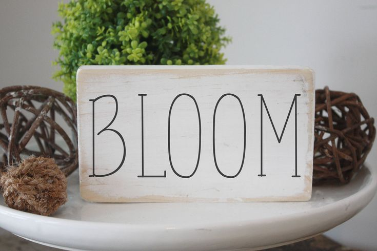 Excited to share the latest addition to my #etsy shop: Bloom wood sign, spring decor, quote block, simple design, dunn gallery wall, signs for home, mini signs, vignette accents, easter sign http://etsy.me/2CrZWQR