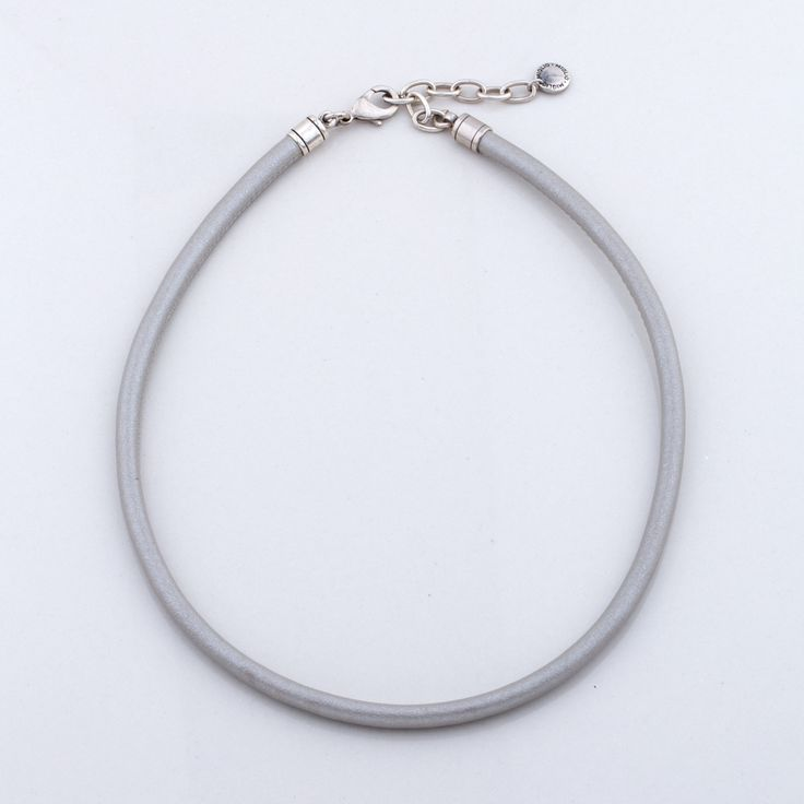 Miglio Designer Jewellery - Sleek Silver Sewn Leather Necklace, R299.00 (http://shopza.miglio.com/shop-by-product/sleek-silver-sewn-leather-necklace/)