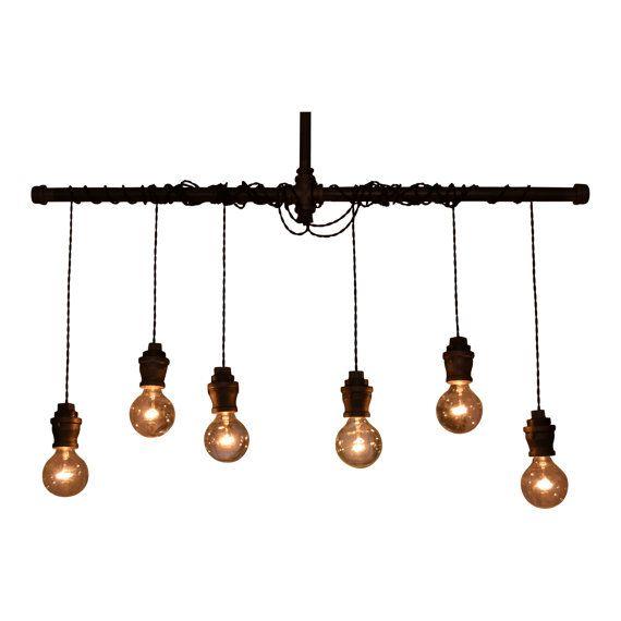 Pendentif industrielle lustre - éclairage - plafonnier - Industrial Tube Light - cuisine Light