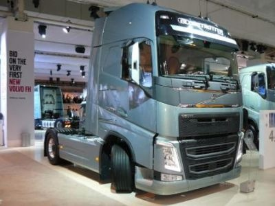 The new Volvo FH on show as a Euro 6 at the IAA Hannover 2012
