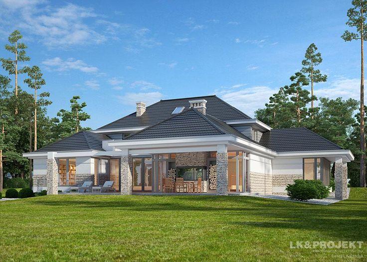 Projekty domów LK&Projekt LK&1155 wizualizacja 1