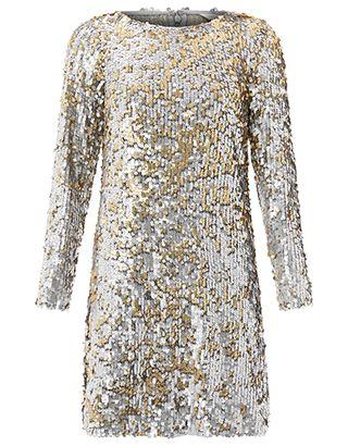 194444de Monsoon   Juliet Sequin Dress   Silver   18   3428561118   My Style ...