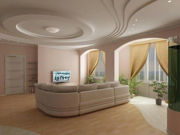 Gypsum False Ceiling Designs For Large Modern Living Room Home
