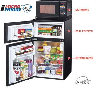If you're wanting to bring a microwave to your Baylor dorm, pin this. The MicroFridge, with a built-in microwave, is the only one allowed.