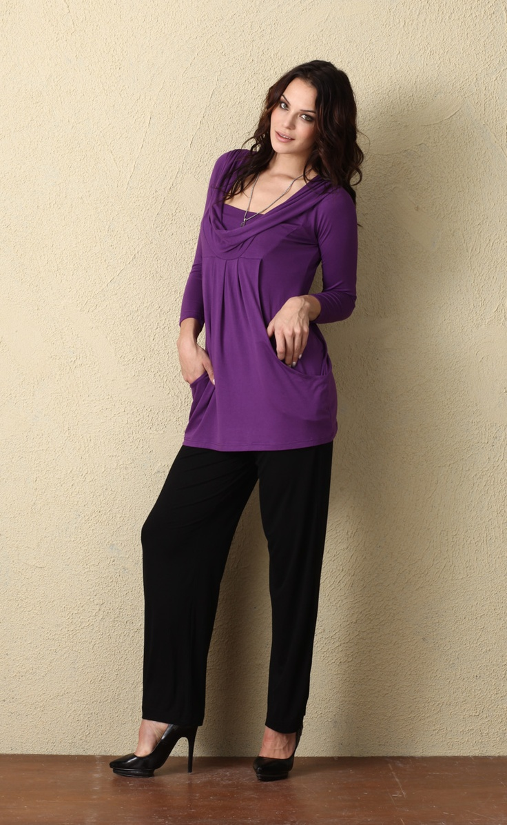 Fanfare Tunic in Violet