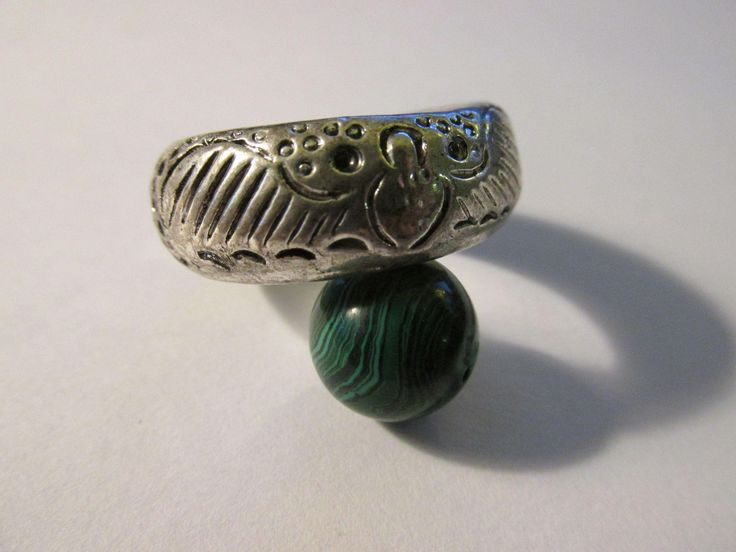 Miao Silver Chinese Money Bat and Flower Ring