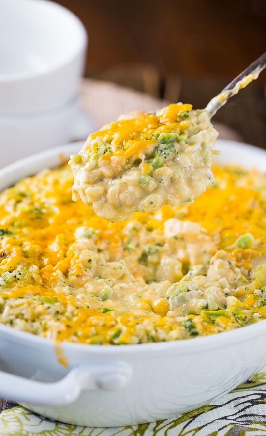 Southern Cheesy Broccoli Rice Casserole _ A cheesy, creamy broccoli casserole with a ritz cracker topping that is a favorite Southern side. Southerners have a love affair with casseroles, whether it's a family meal, church function, pot luck, or holiday!