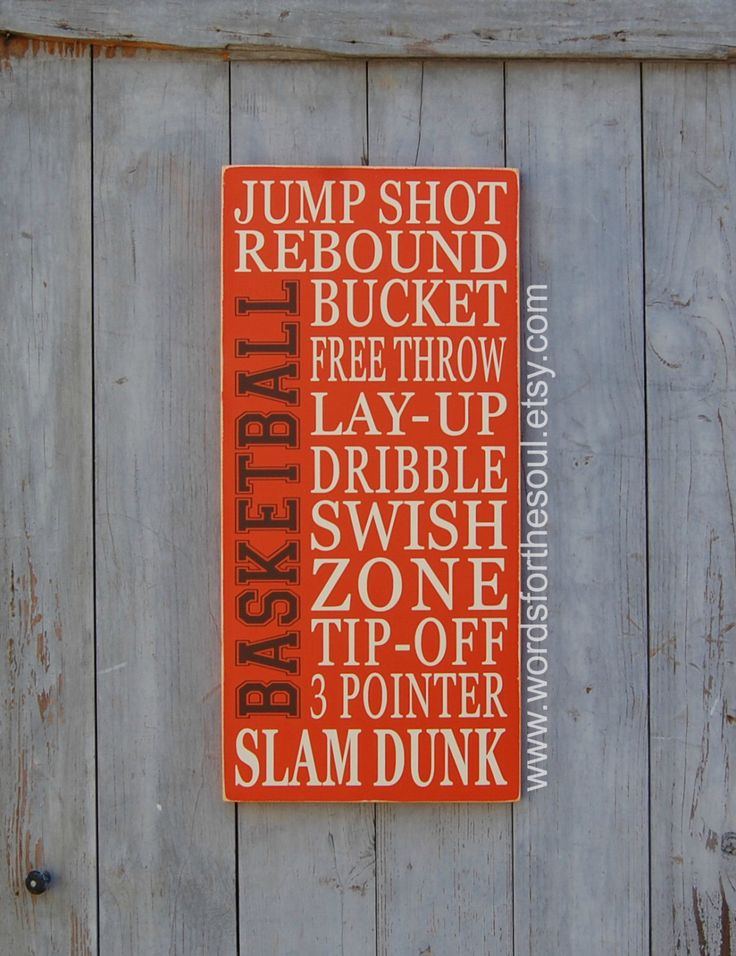 Basketball Typography Word Art Sports Wood Sign Nursery Wooden Typography Subway Sign by WordsForTheSoul on Etsy https://www.etsy.com/listing/218944302/basketball-typography-word-art-sports