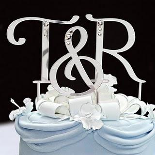 Initial cake topper