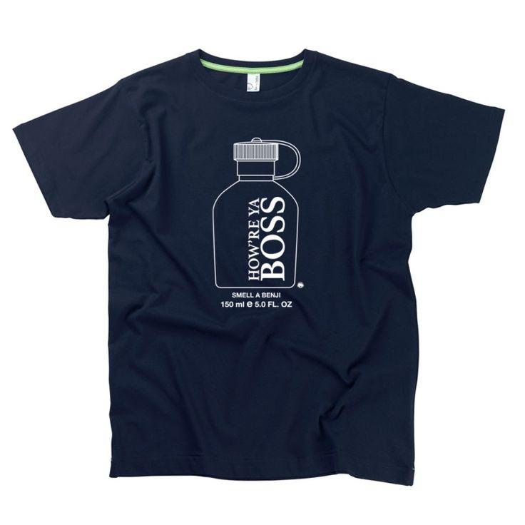 How're Ya Boss, Da Smell A Benji Gent's T-Shirt by Hairy Baby