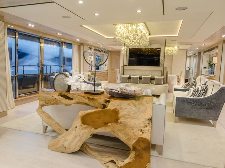 """Carpet feels good, soft, and easier on the feet. It also gives a """"softer"""" feel to the yacht #InteriorDesign #Luxury #Comort #Decor #Carpet #Design"""