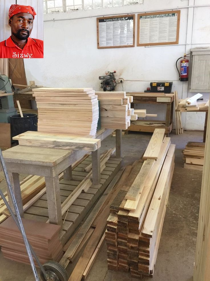 No, your eyes are not deceiving you. This is really how our wonderful carpenter, Sizwe, keeps his workstation. How awesome? #TheMilestoneTeam
