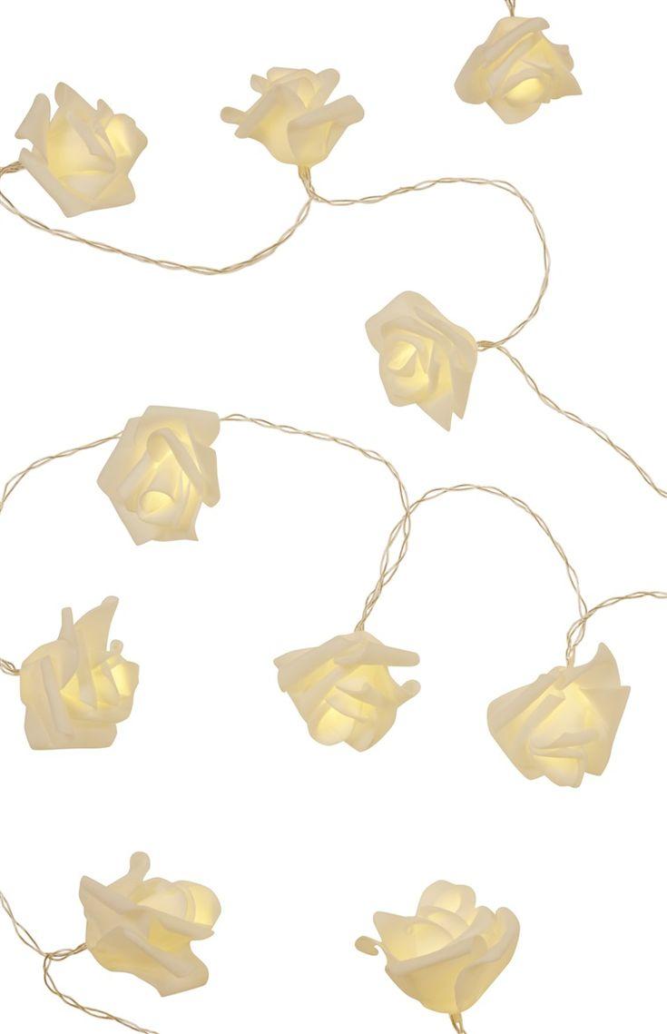 Primark - White Foam LED Roses Lights