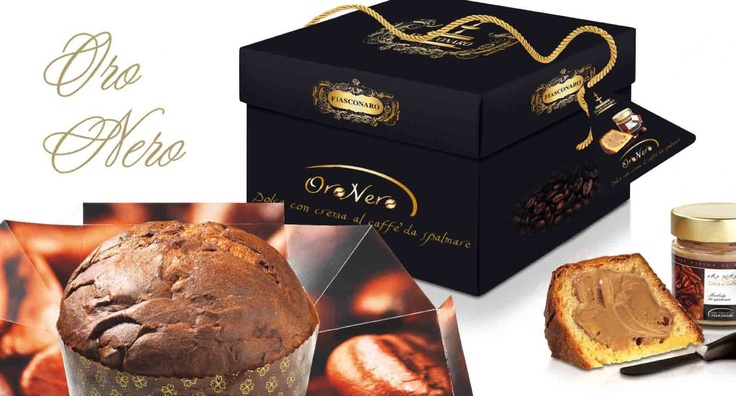 Panettone Oro Nero (1000 g) + kávékrém + kés
