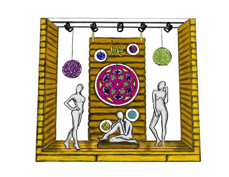 Ilustración digital Visual merchandising Umbrale