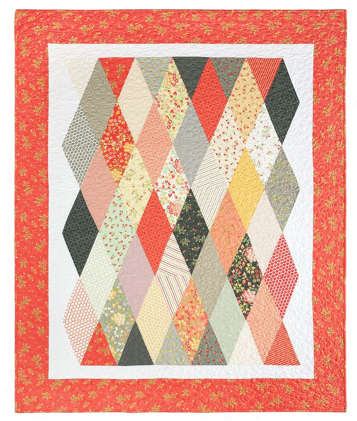 Diamond Pattern For Quilting : 25+ best ideas about Diamond quilt on Pinterest Patchwork patterns, Baby quilt patterns and ...