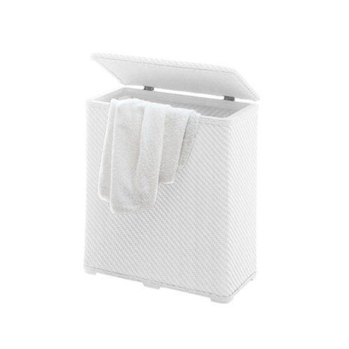 Gedy Rectangle White Laundry Basket 2038-02 by Gedy. $123.00. Design in white finish. From the Gedy Ambrogio collection. Laundry basket made out of thermoplastic resins. White rectangle laundry basket made out of thermoplastic resins. Laundry basket made out of thermoplastic resins. Design in white finish. From the Gedy Ambrogio collection.