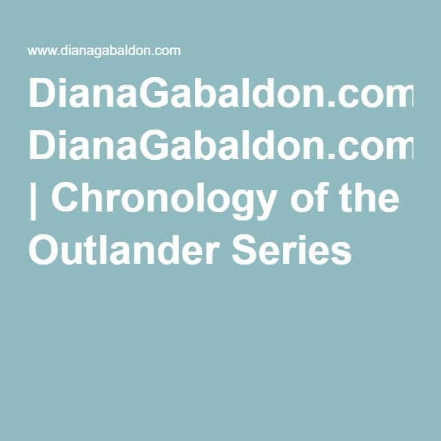 DianaGabaldon.com | Chronology of the Outlander Series