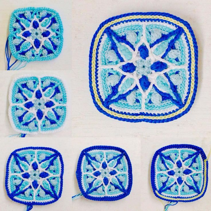 Procedure②Blue mandala # マ ン ダ ラ # mandalasforwink # mandalasformarinke #crochetmandala #crochet #handmade # 編 み 物 # か ぎ 針 編 み # мандала # crochetlove # крючком # крючком # ハ ン ド メ イ ド # レ ー ス 編 み # レ ー ス 糸