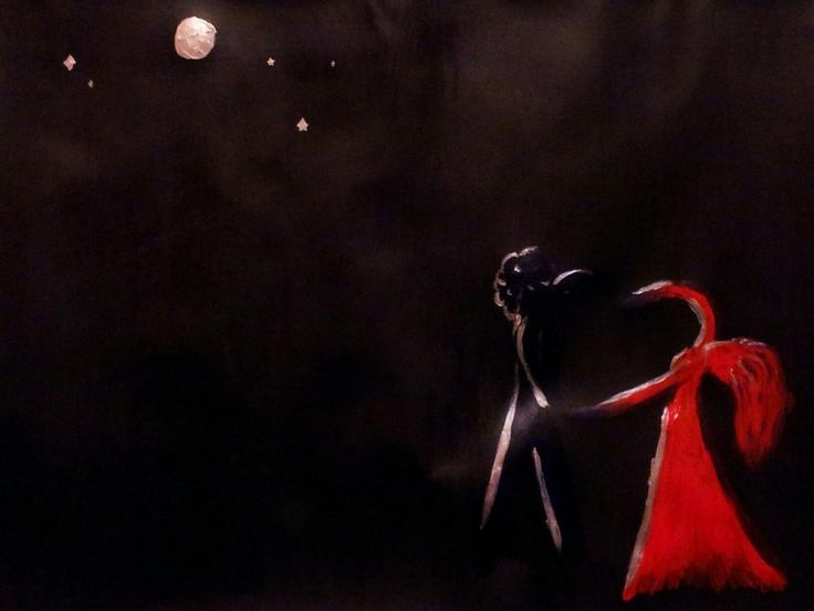 Dancing In The Dark by punksRule.deviantart.com on @deviantART A painting I did for a friend