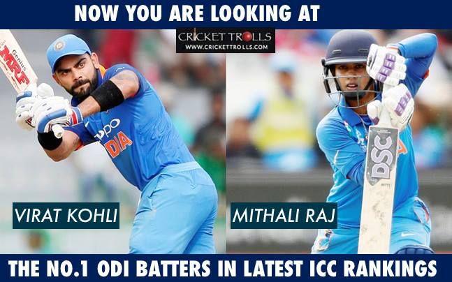 Virat Kohli & Mithali Raj  #ICCRankings - http://ift.tt/1ZZ3e4d
