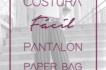 Pantalón paper bag. DIY ropa. Costura fácil paso a paso. Tutorial de costura. …