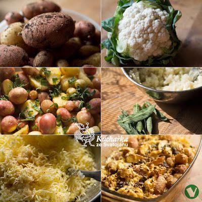 PEČENÉ BRAMBORY S KVĚTÁKOVOU OMÁČKOU Kuchařka ze Svatojánu: Hlavní jídla