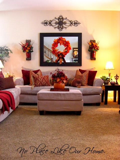 My dream color scheme!!! Miss having these colors in my living room! :)  Fun Home Things: 10 Fall Decorating Ideas