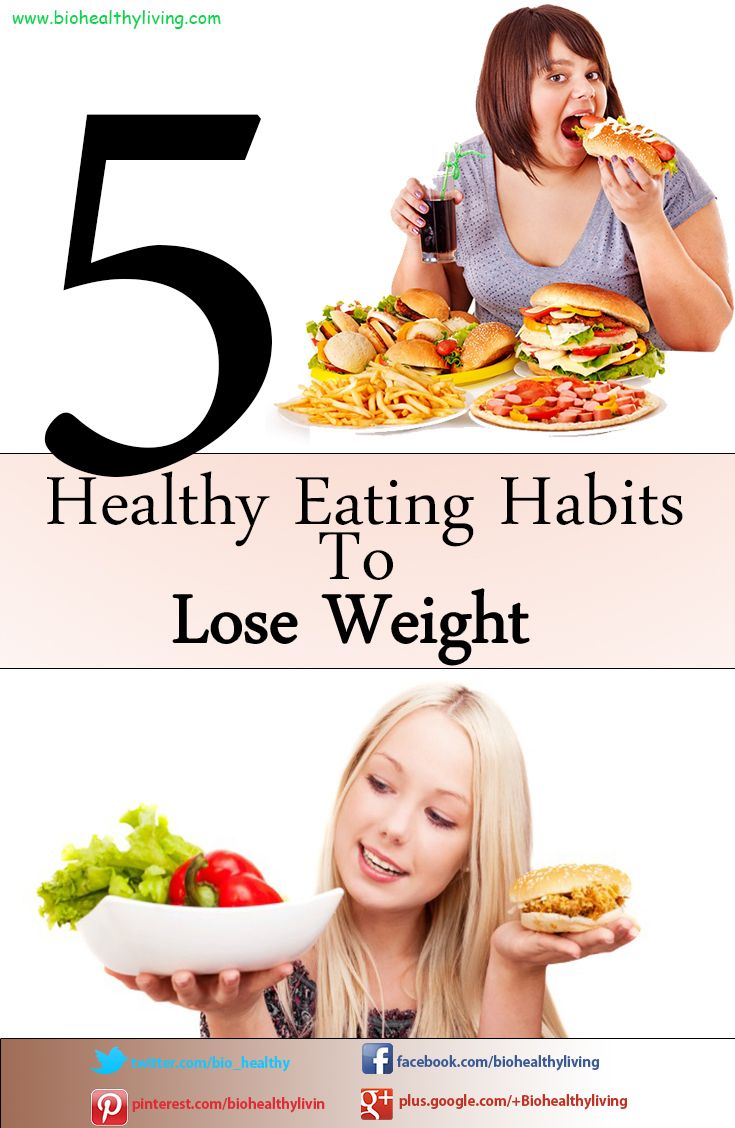 5 Healthy Eating Habits To Lose Weight   http://www.biohealthyliving.com