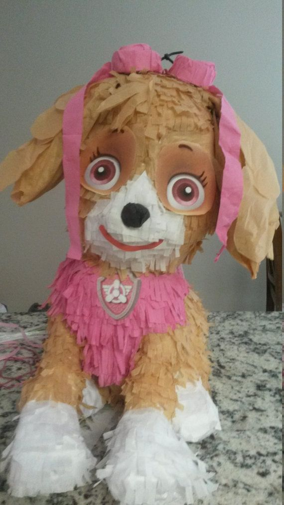 Paw Patrol. Skye Piñata. Handmade. New by MOMSKITCHENBAKERY