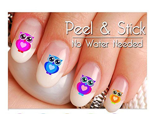 40 Owl Nail Art Decal Sticker Set *** Read more  at the image link.
