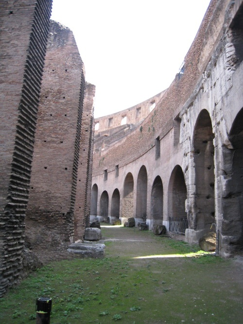 Tunnels under the Coliseum, Rome; Italy