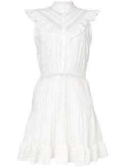 платье с высоким воротом на пуговицах