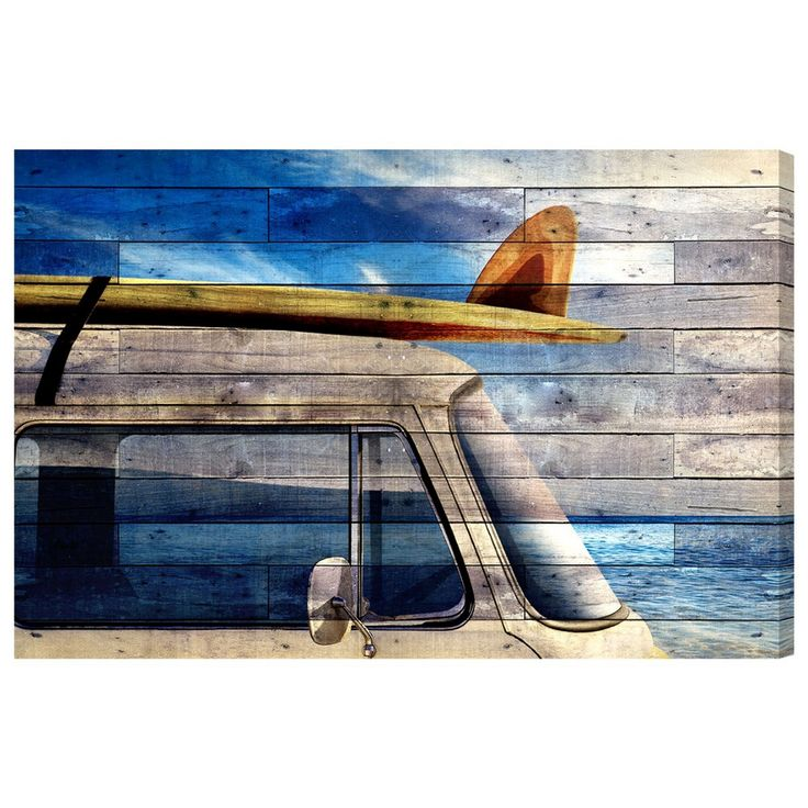 Lets Go To The Beach Canvas Art