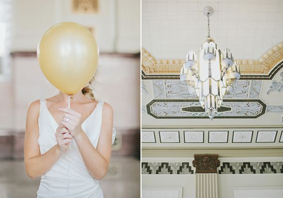 Black and gold Art Deco wedding inspiration   Photo by Lauren Peele Photography   100 Layer Cake