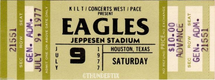 6 1973 77 The Eagles Vintage Unused Full Concert Tickets Scrapbooking Collect   eBay