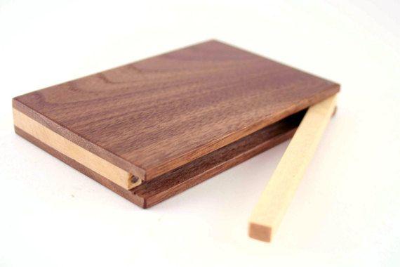 Custom Engraved Wooden Business Card Holder by BAwoodLV on Etsy
