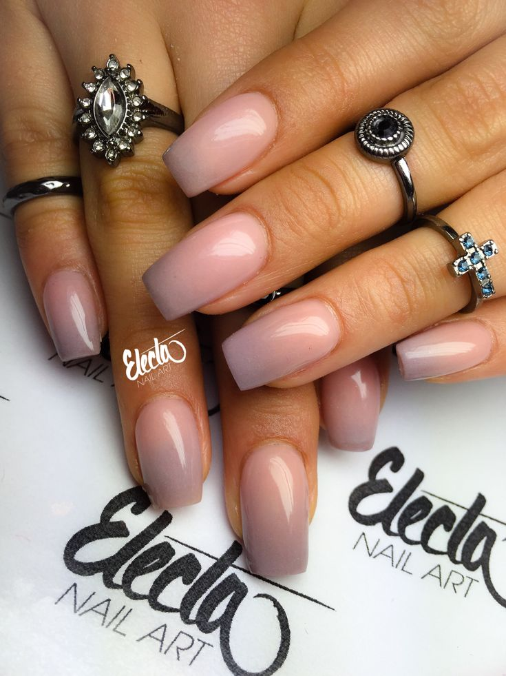 Nude ombre nails                                                                                                                                                     More