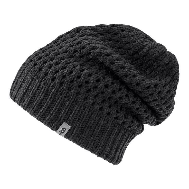 The North Face Shinsky Women's Beanie helps you stay warm whether you're rushing down the slopes or showing off your sense of style on the street. Slouchy for a comfortable fit and relaxed look, the hat features an attractive open weave knit design.